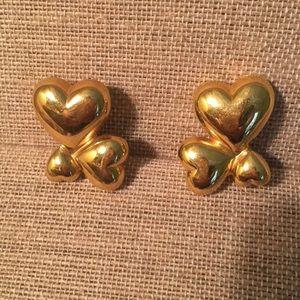Monet Tri-Heart Earrings